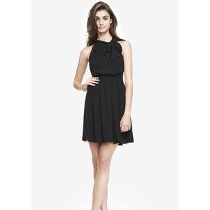 Express Tie-Neck Halter Dress